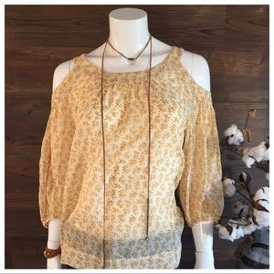 Anthropologie Tops - Meadow Rue Cold Shoulder Blouse